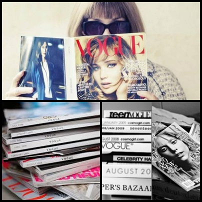 reading fashion magazines