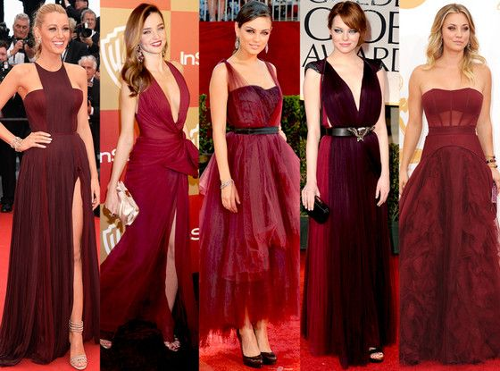 marsala fashion celebrity wear