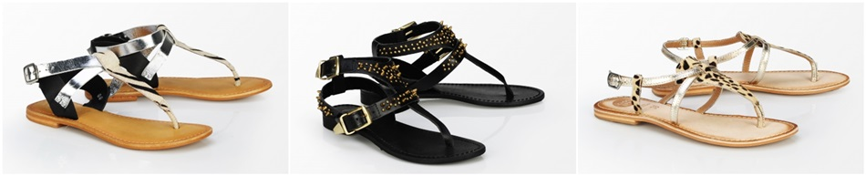 sandale metalizate