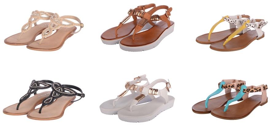sandale fara toc piele naturala