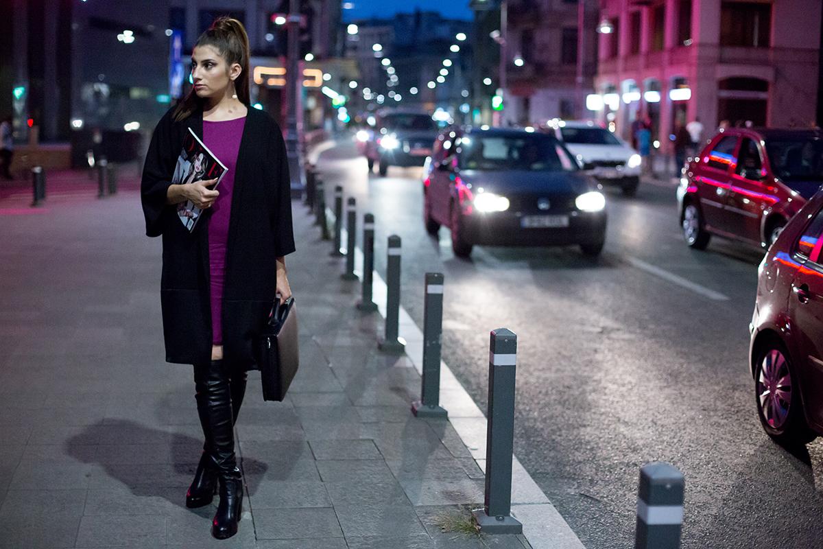 Mariana Romanica night street style