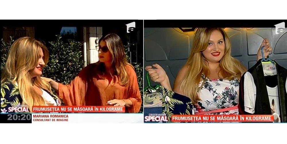 Reportaj Antena 1 cu Mariana Romanica si Ioana Dumitrache: Frumusetea nu se masoara in kilograme
