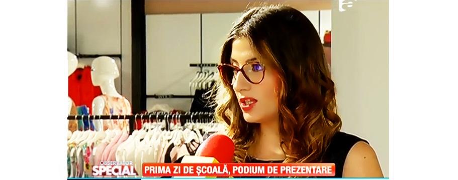 Reportaj Antena 1 cu Mariana Romanica: Vestimentatia in prima zi de scoala