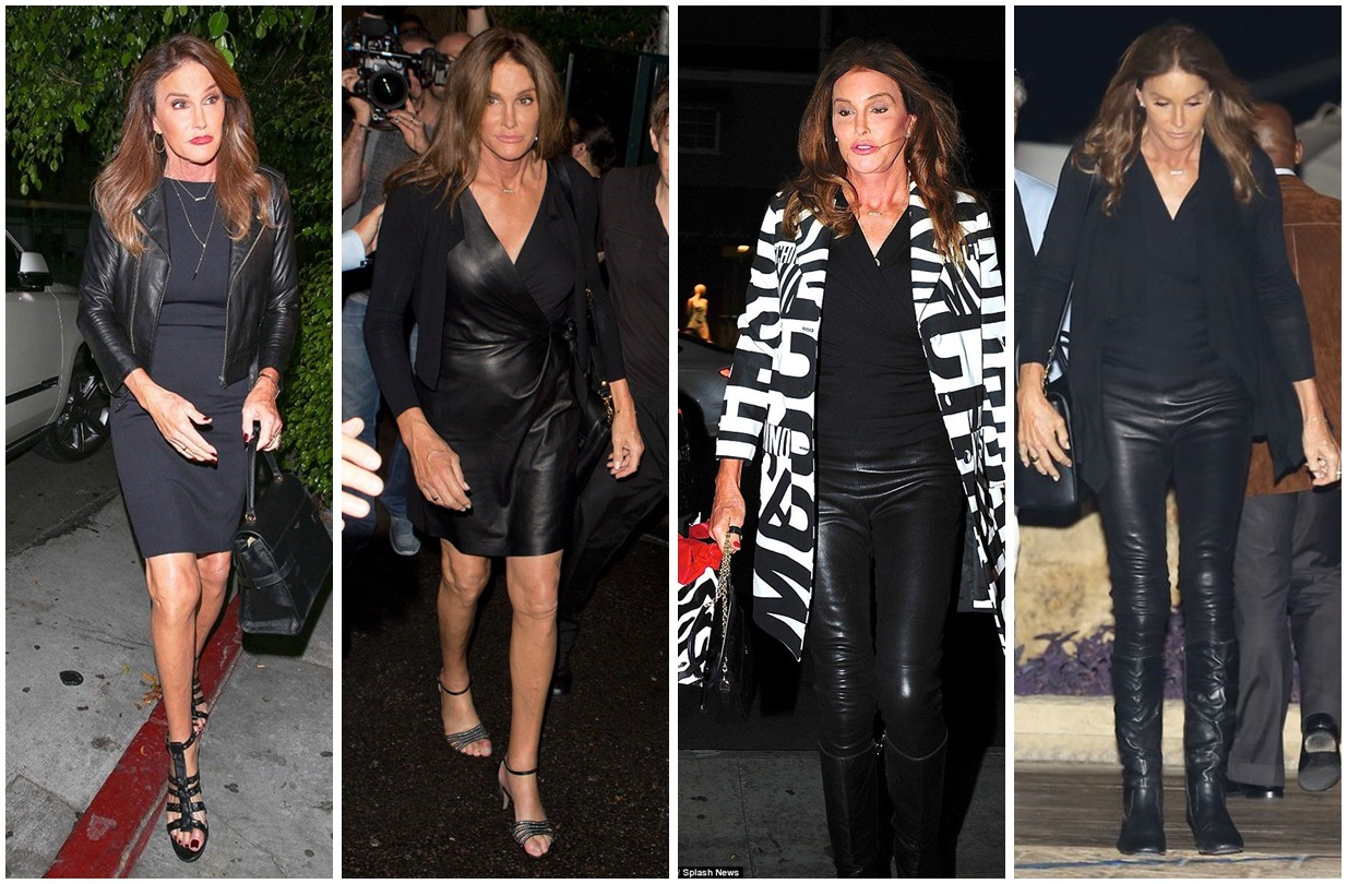 caitlyn jenner black outfit