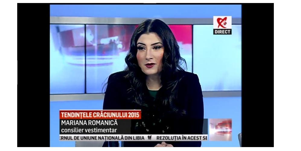 Mariana Romanica la Newsroom, Realitatea Tv 24 Decembrie 2015