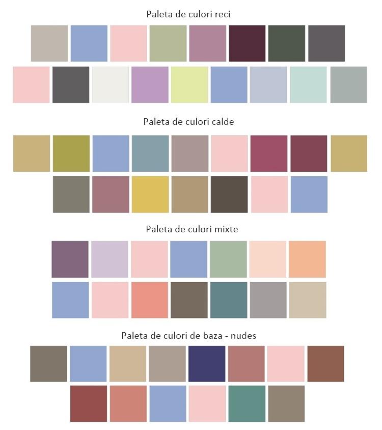 paleta culori asortare rose quartz si serenity