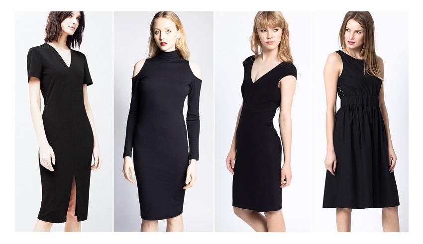 rochie midi neagra