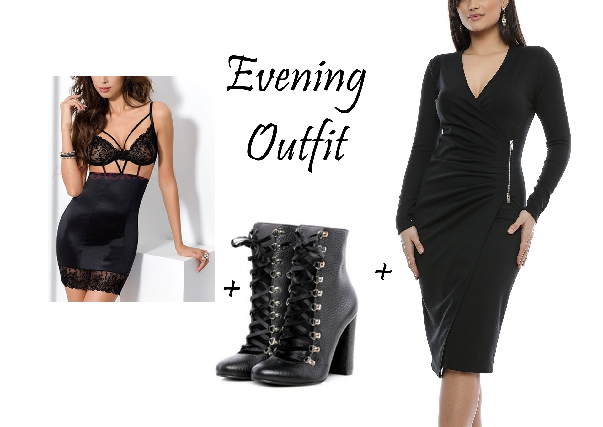 rochie neagra seara