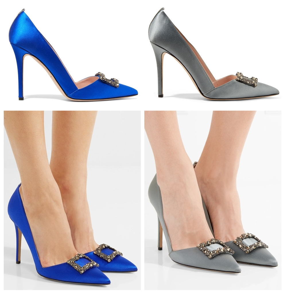 Windsor crystal-embellished satin pumps sjp holiday capsule collection