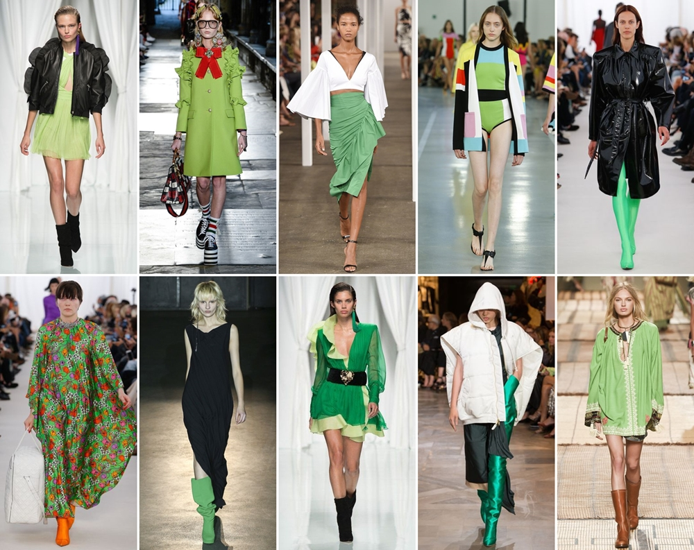 greenery catwalk 2017