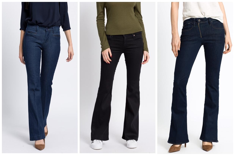 jeans uni evazat bootcut