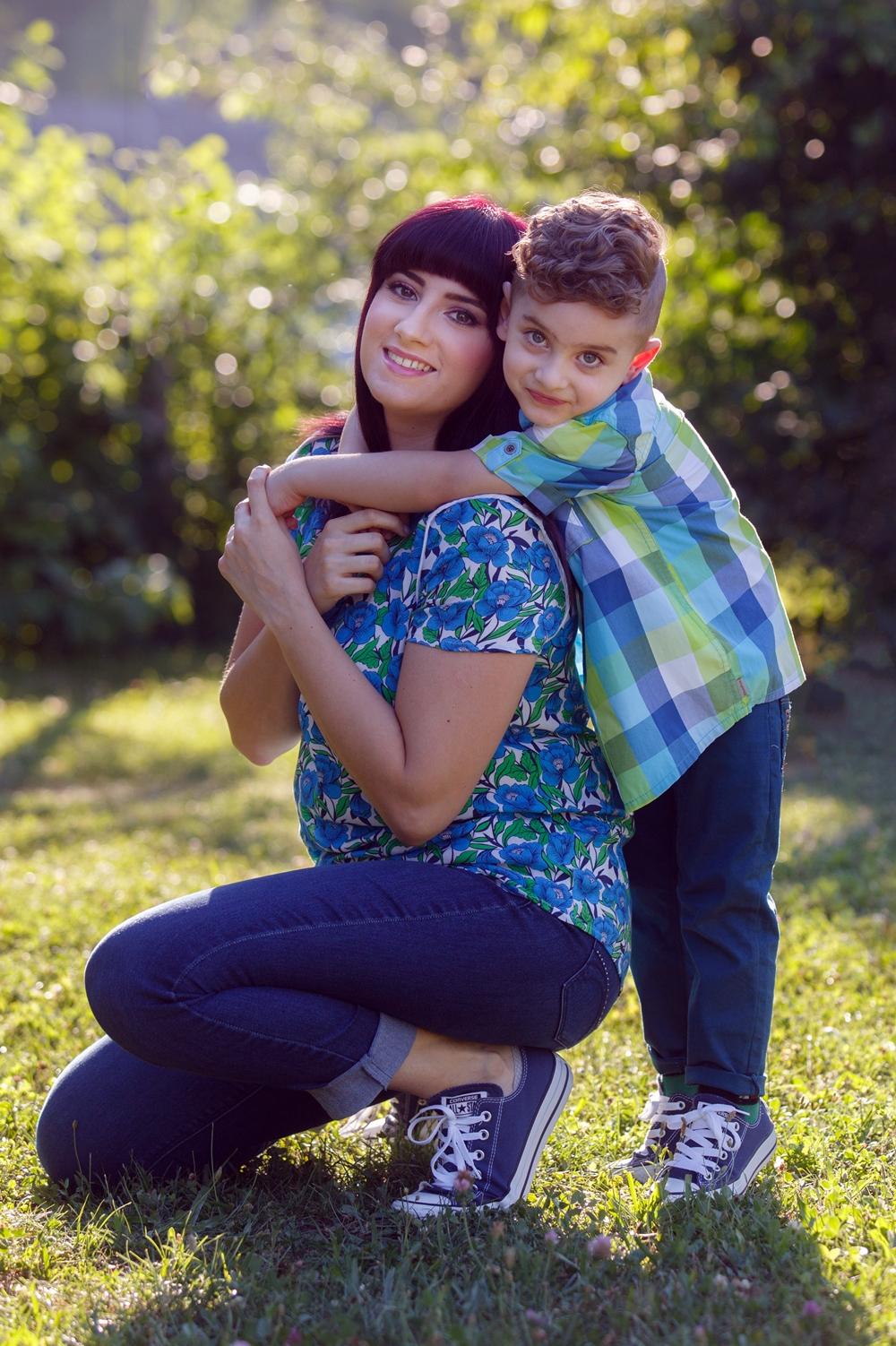 ţinute asortate mamă - fiu