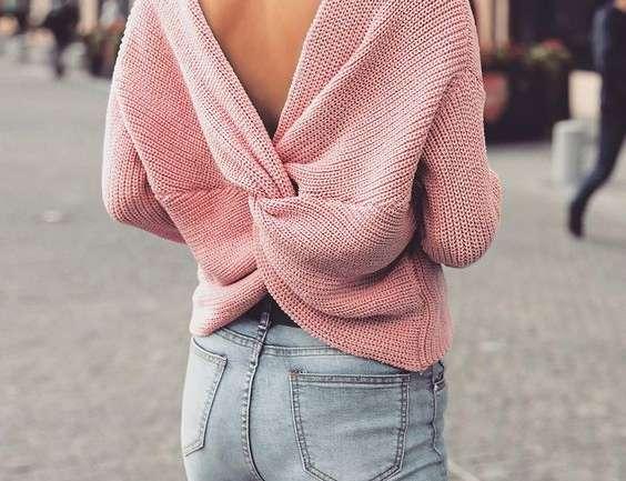 Hot ot Not: puloverul cu spatele gol