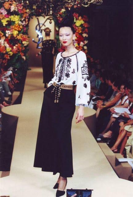 yves saint laurent1981 romanian blouse