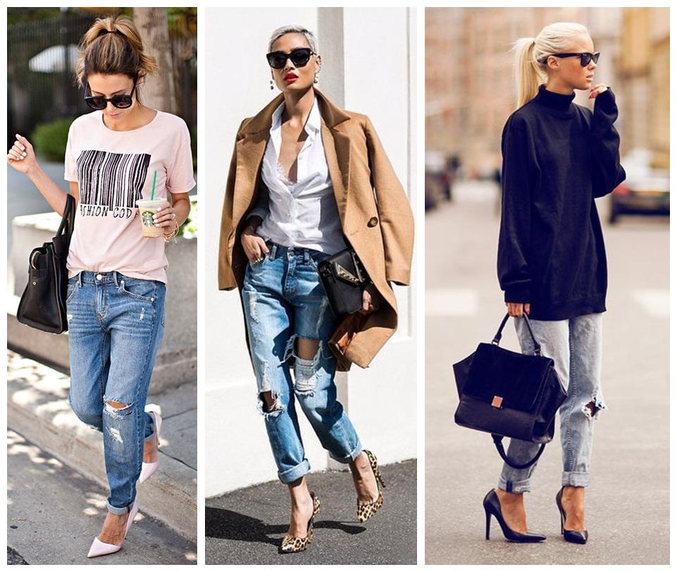 tinuta boyfriend jeans