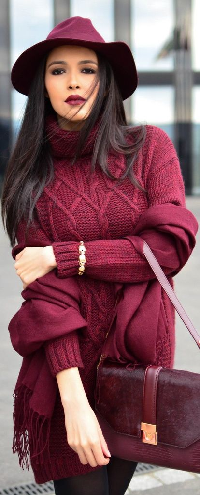 marsala outfit