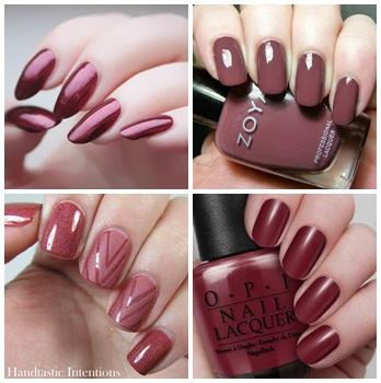marsala nails