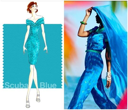 scuba blue color trend 2015