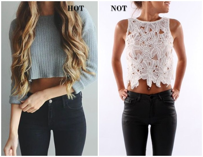cropped top skinny jeans