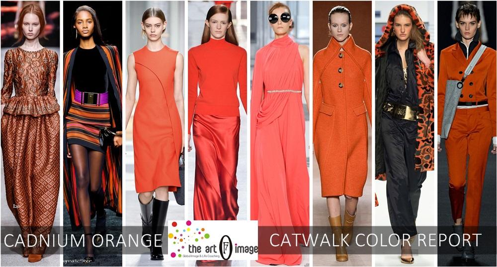 cadnium orange catwalk color report aw 2015