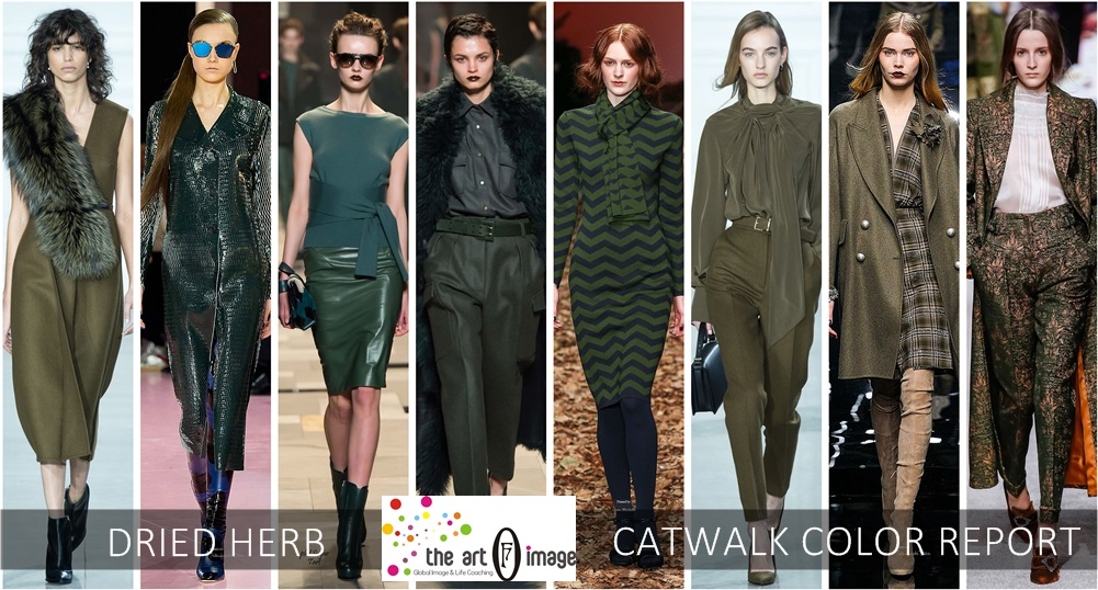 dried herb catwalk COLOR REPORT AW 2015