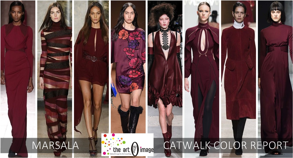 marsala catwalk color report aw 2015