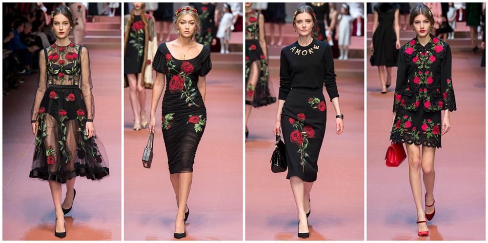 dolce and gabbana trandafir catifea