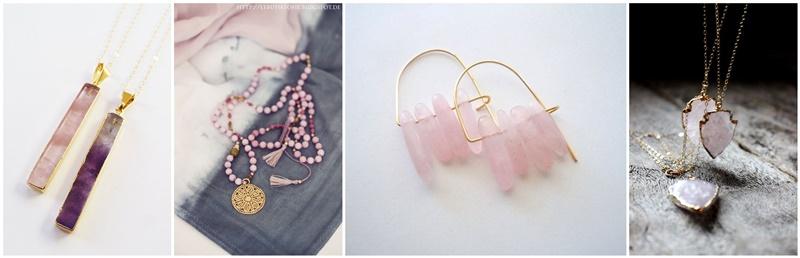 bijuterii cuart roz