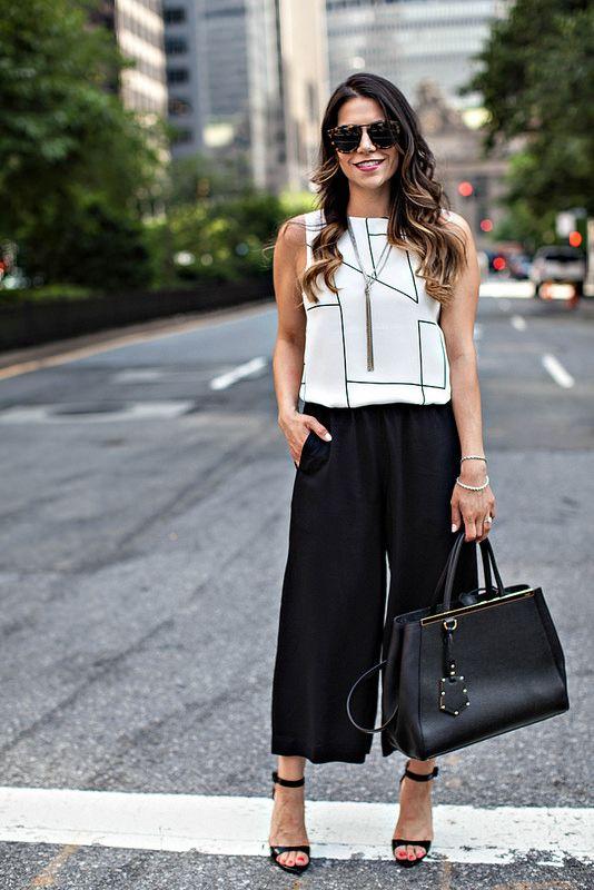 pantalonii culottes