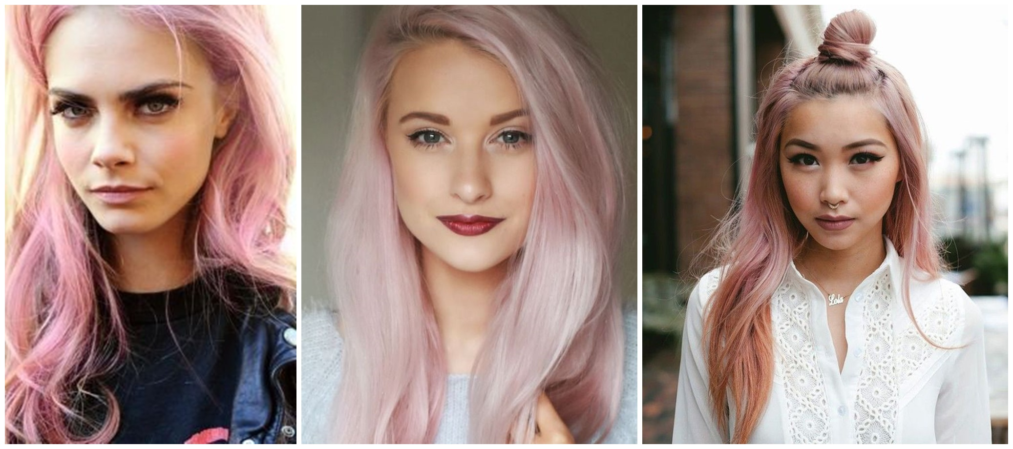 rose quartz hair