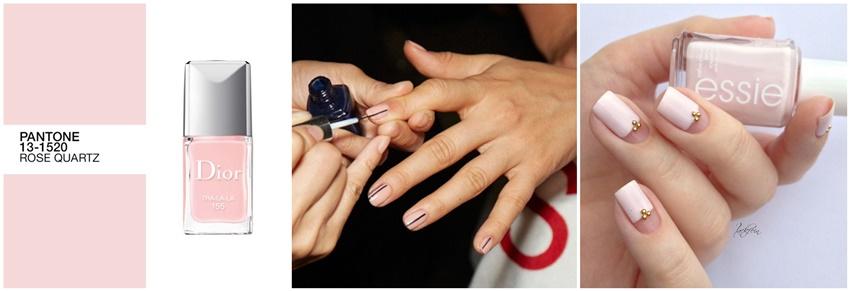 rose quartz manicure