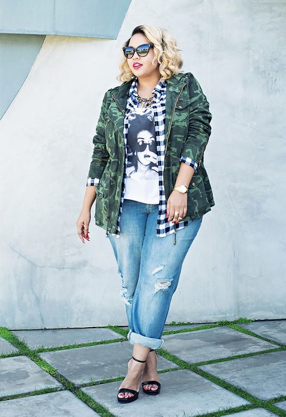 plus size jeans outfit
