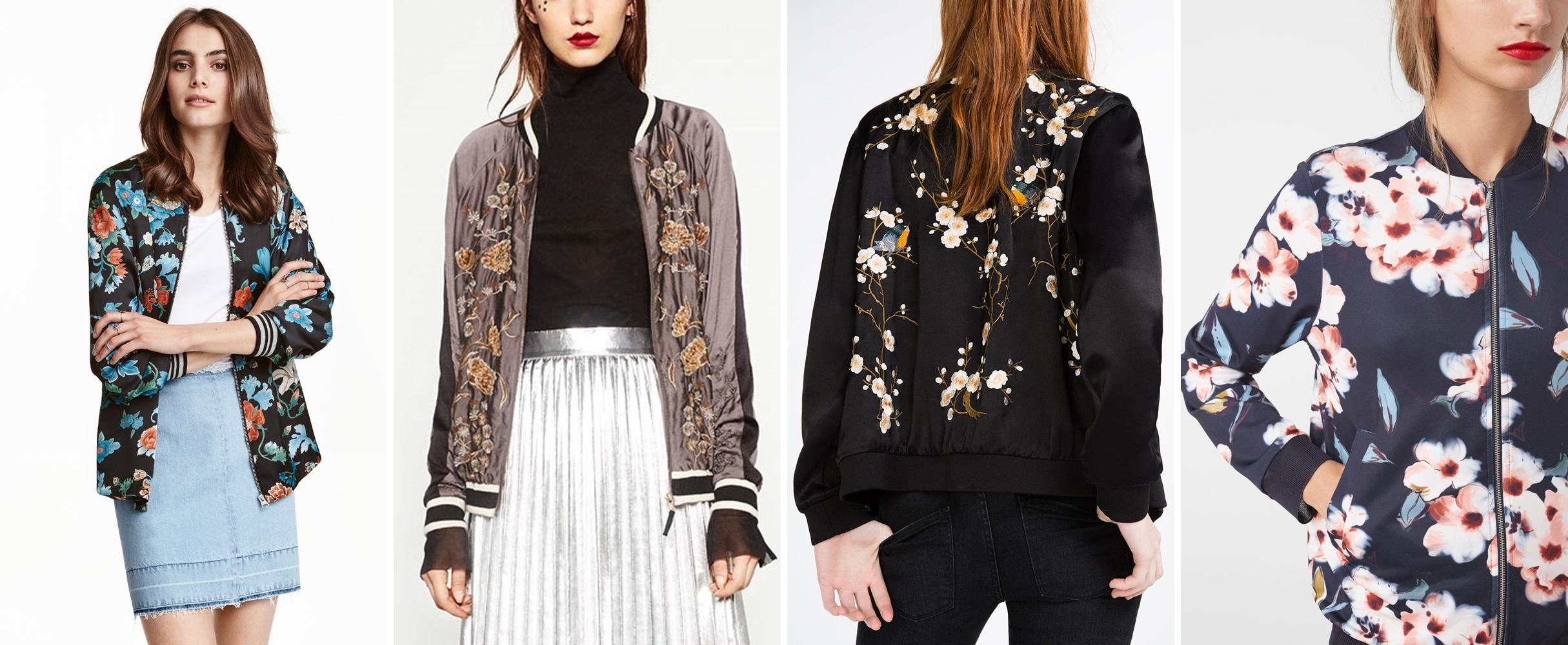 bomber jacket floral print