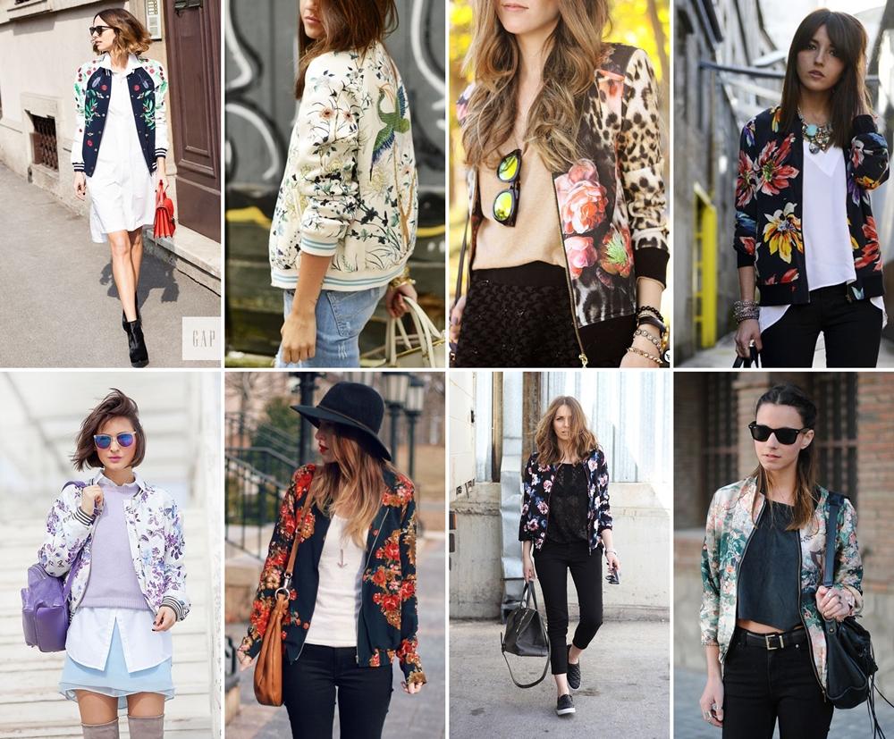 bomber jacket print floral