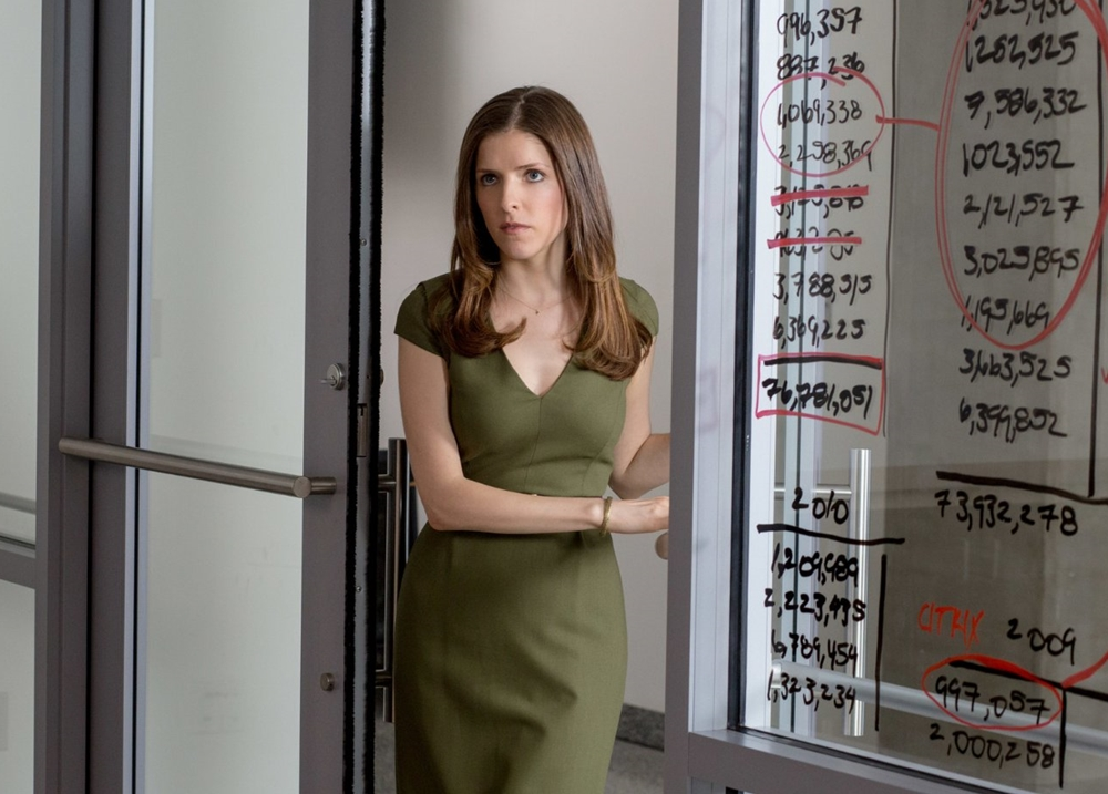 the accountant anna kendrik kaki dress