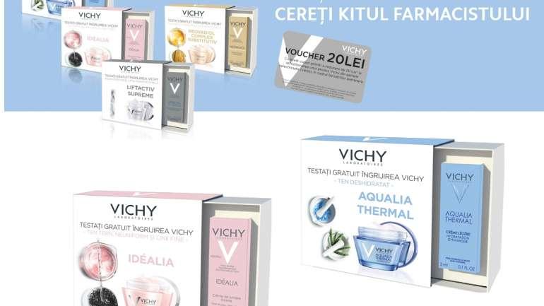 Vichy: kit de îngrijire a pielii cu testare gratuită