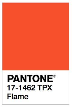 PANTONE FLAME SS17